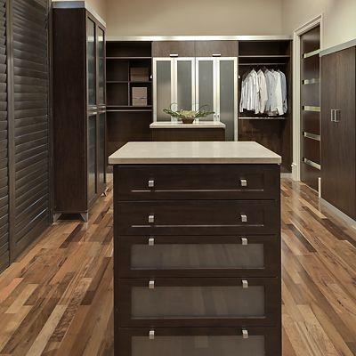 Sleek Dark Wood Finish Example By Closet Factory